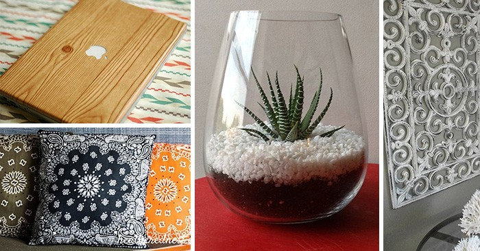 23 Stylish Diy Projects That Only Require Items From The
